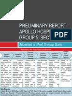 Preliminary Report SectionE Grp5 Apollo Hospitals