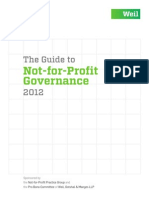 Not for Profit Governance