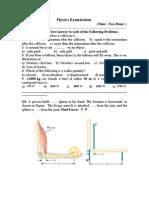 Examinaton of phsics   امتحان في مادة الفيزياء الجامعية