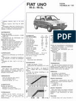 Revista Técnica Automóvel - Ficha Técnica 122 - Fiat Uno 55 S 60 SL