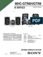 Sony Mhc-gtr6h Mhc-gtr8 Br