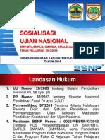 Materi Sosialisasi UN 2013 2014