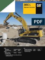 Catalog Hydraulic Excavator 365cl Caterpillar