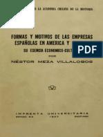 Formas y motivos de las empresas españolas en America y Oceanía. Su esencia económico-cultural. 1937