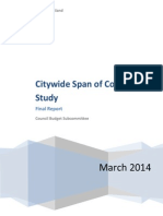 Portland Police Span of Control Final Report