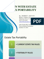 Fun With Estate Tax Portability