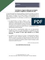 Superintendencia de Banca y Seguros afirma que son legales préstamos otorgados a regidores y alcaldesa de Lima