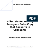 4 Secrets for Writing Renegade Sales Copy that Converts in ClickBank