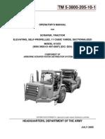 TM 5-3800-205-10-1 SCRAPER, TRACTOR MODEL 613CS  NSN 3805-01-497-0697  COMPONENT OF ASWDS