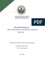Tesis Sitio Web Salud e Higiene Bucal 2012