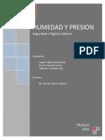 Humedad y Presion Informe