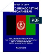 Afghanistan on Short wave - Updated March 2014