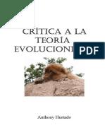 Critica a La Teoria Evolucionista