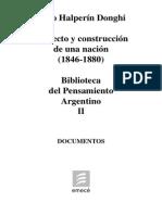 Halperin Donghi. Proyecto y Construcción de una Nación (1846-1880). Tomo II.