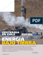 Geotermia en Chile. Energía bajo tierra. Reportaje Revista Bit