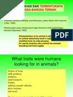 Domestikasi Dan Breed Ternak