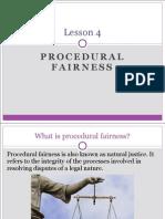 lesson 4 - procedural fairness