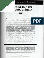 Actualidad Del Discurso Critico