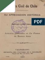 Guerra Civil de Chile. Su apreciación histórica. Artículos publicados en la prensa de Buenos Aires. (1891)