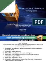 Intisari UU No. 6 Tahun 2014 Ttg Desa