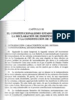 EL CONSTITUCIONALISMO ESTADOUNIDESNSE. LA DECLARACION DE INDEPENDENCIA Y LA CONSTITUCION DE 1787.pdf