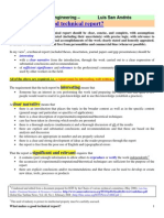 The Qualities of a Good Technical Report