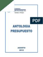 ANTOLOGIA PRESUPUESTO
