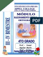 MÓDULO DE RAZ. VERBAL APPUL COLLEGE III - IV