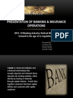 Presentation of Banking and operations