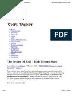 The Return Of Enki – Kids Become Stars | TERRAPAPERS