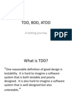 TDD, ATDD and BDD presentation
