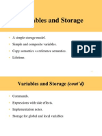 Variables & Storage