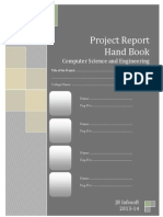 CSE Project Report Hand Book