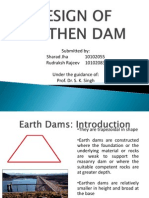 Design of Earthen Dam
