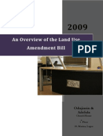 An Overview of the Land Use Amendment Bill