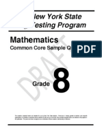 Grade 8 Mathematics Test Examples (NY)