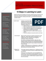 10 Steps in Learning to Learn