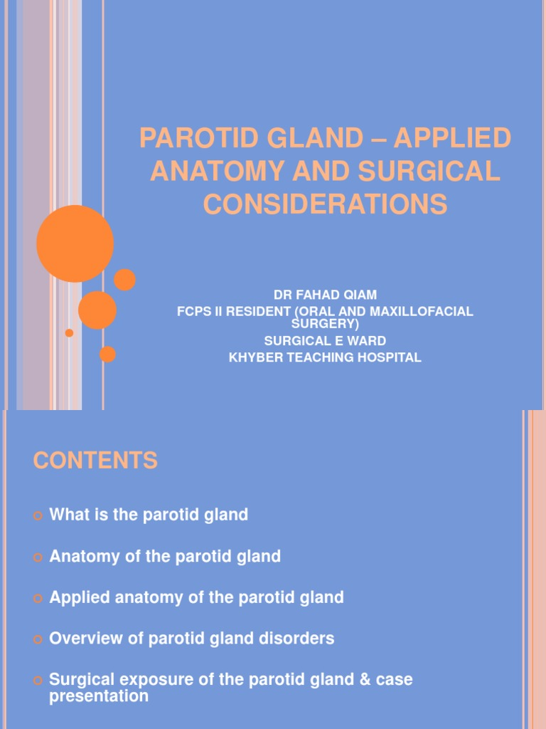 Parotid Gland - Applied Anatomy and Surgical Considerations | Human ...