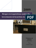 Mergers & Acquisitions Under the Investments & Securities Act 2007