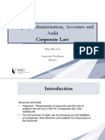 Class Notes For Company Admin, Accounts and Audit (Corporate Law, SMU)