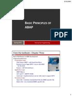 Basic Principles of ABAP