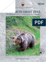 Rapporto Orso 2013 Provincia di Trento