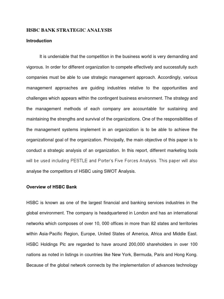 hsbc competitors analysis