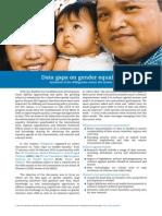 Report on Data Gaps on Gender Equality
