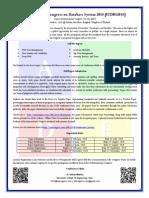 International Congress on Database System 2014 CFP