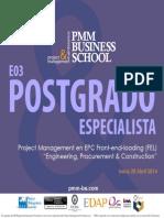 PMM-BS Postgrado Especialista E03 Project Management en EPC