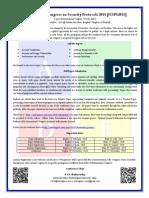 International Congress on Security Protocols 2014 CFP