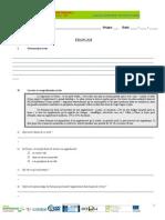 Ficha de excercícios - frances