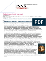 La Nona ora, thriller di Maurizio Ponticello tra esoterismo e azione, su Ravenna&Dintorni di Nevio Galeati
