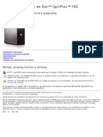 Dell OptiPlex 780 Manual Servicio